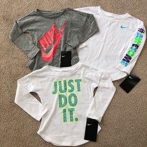 2T Nike Long Sleeve Shirts NWT